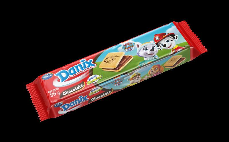 Biscoito recheado sabor chocolate 86g