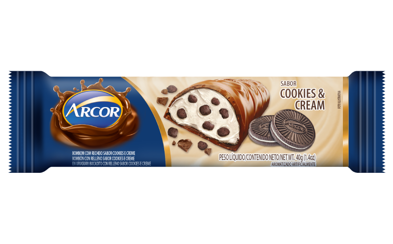 Barra recheada Cookies And Cream