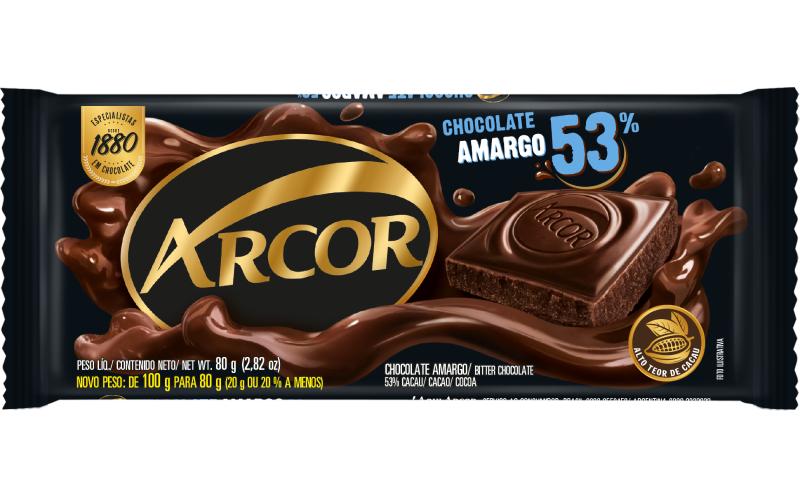 Tablete Arcor Amargo 53% 80g