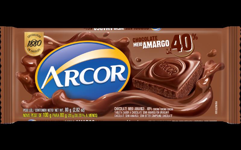 Tablete Meio Amargo 40% 80g