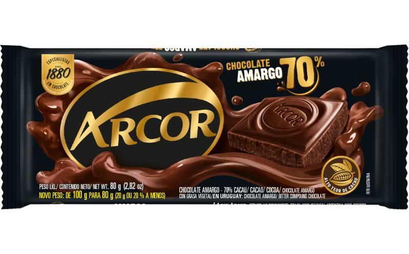 Tablete Arcor Amargo 70% 80g