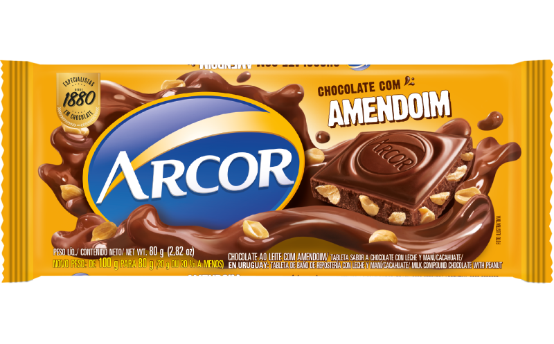 Tablete Arcor Amendoim 80g