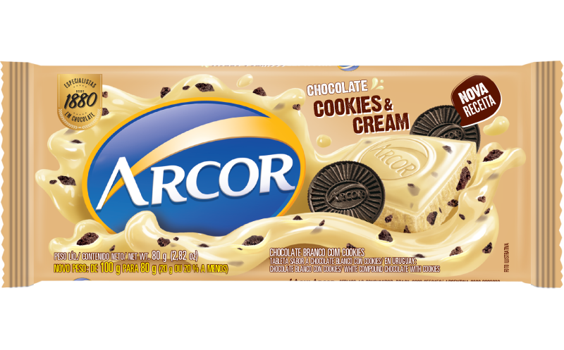 Tablete Arcor Cookies & Cream 80g