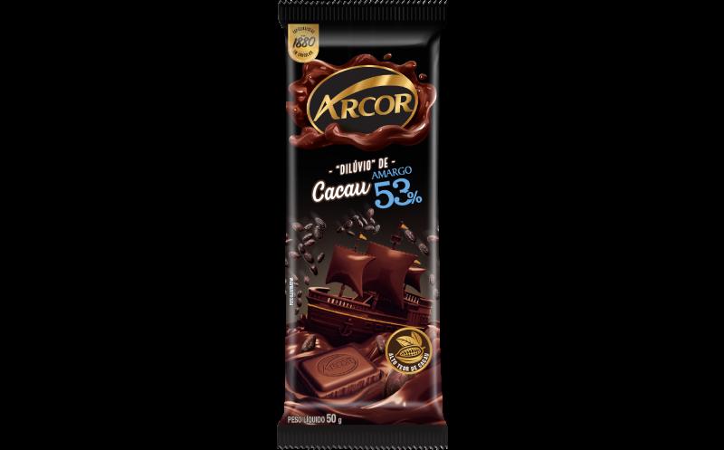 Tablete Arcor Amargo 53% 50g