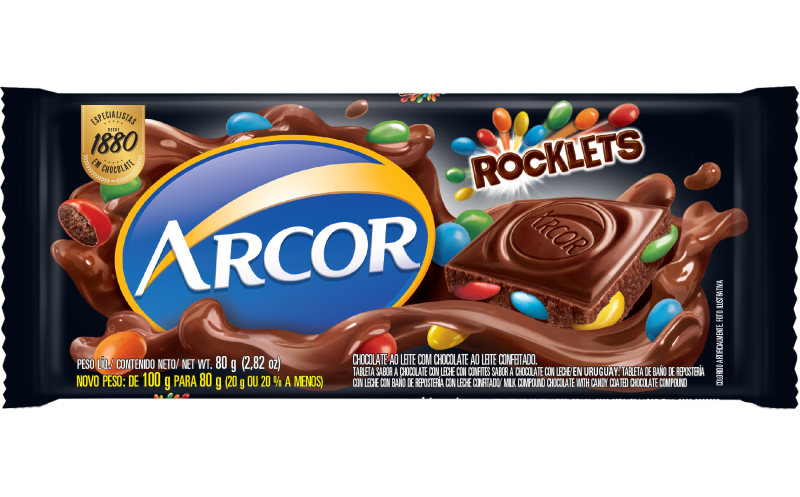 Tablete Arcor Rocklets 80g