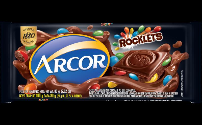 Tablete Arcor Rocklets 100g