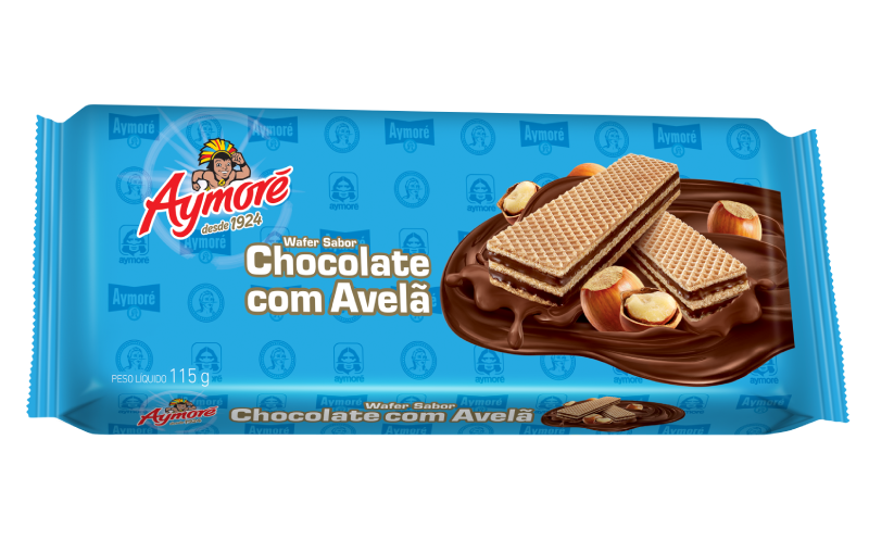 Aymoré wafer chocolate com avelã
