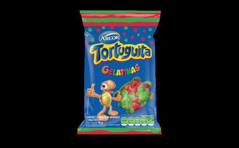 Tortuguita Gelatinas Morango e Maçã Verde
