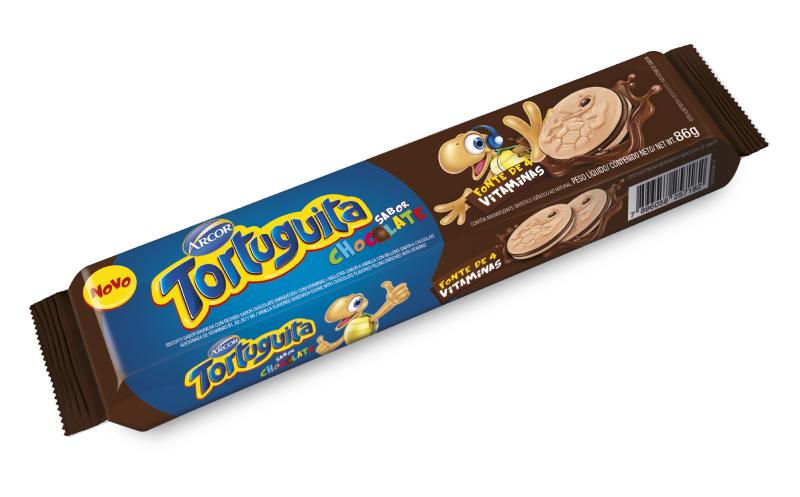 Flowpack Tortuguita sabor Chocolate 86g