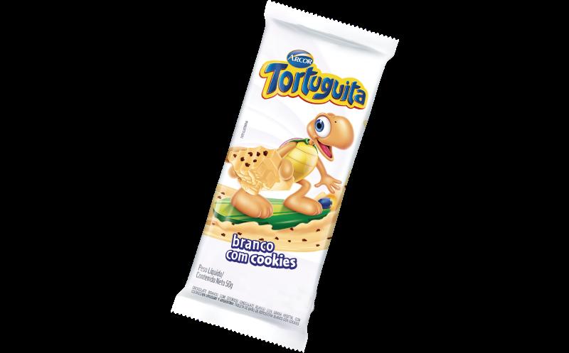 Tablete Tortuguita Branco com Cookies 50g