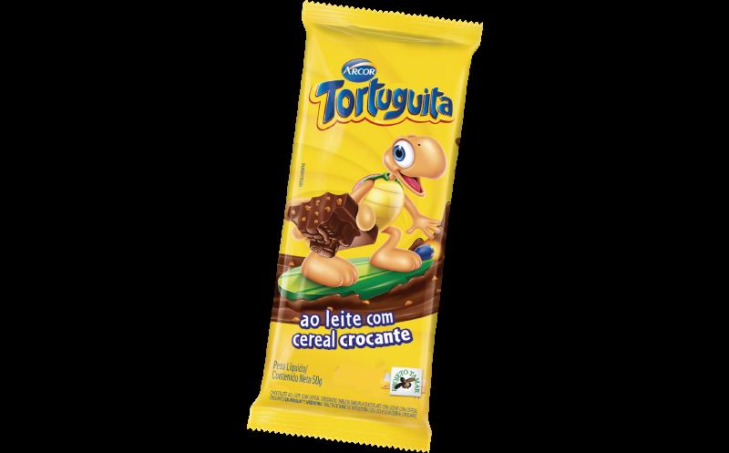 Tablete Tortuguita ao leite crocante 50g