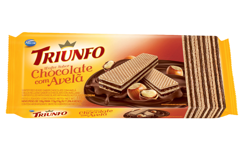 Triunfo wafer chocolate com avelã