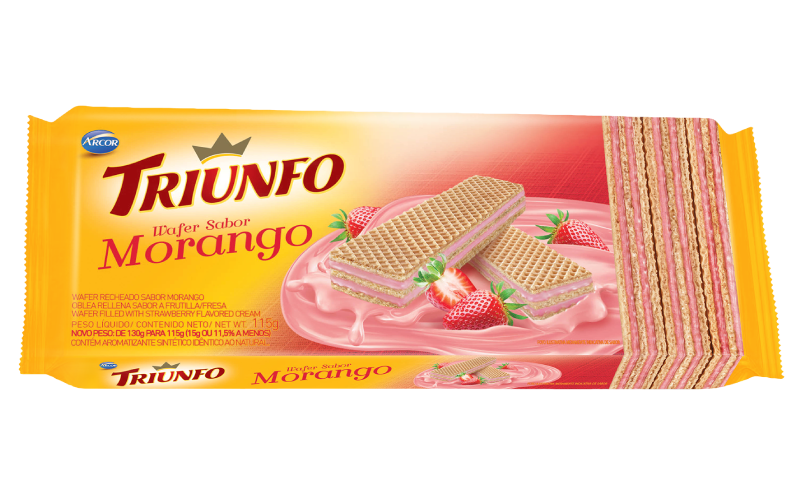 Triunfo wafer morango