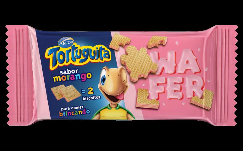 Tortuguita Wafer Morango