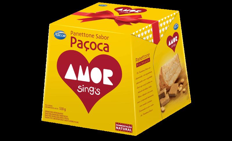 Panettone Arcor sabor Paçoca Amor 530g