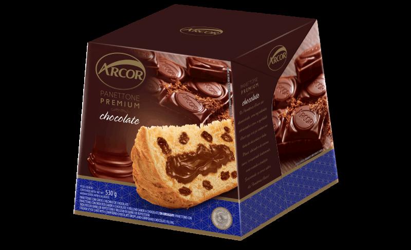 Panettone Arcor sabor Chocolate 530g
