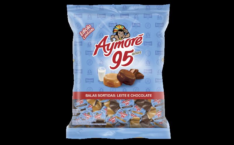 Bala Aymoré sabores leite e chocolate