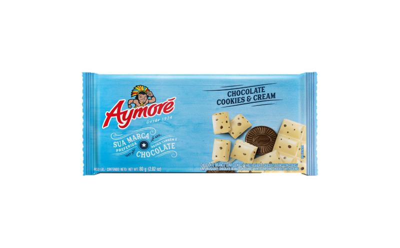 Aymoré Chocolate Cookies & Cream 80g