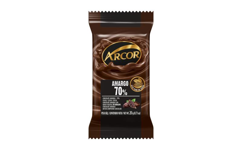 Tablete Arcor Amargo 70% 20g