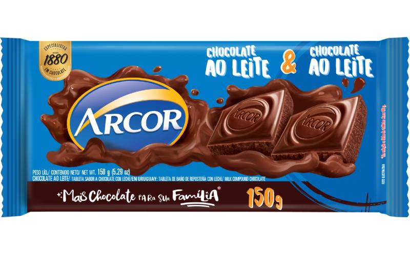 Tablete Arcor Ao Leite 150g